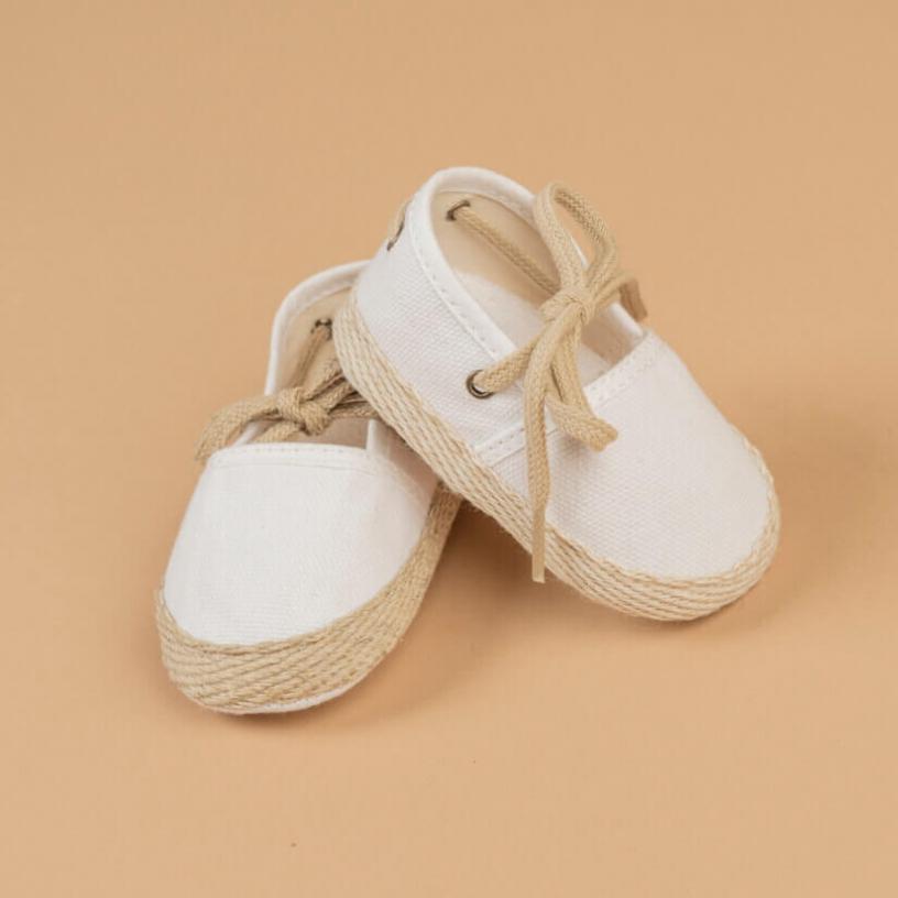 LES ESPADRILLES  Taille-3-6 MOIS Couleur-Blanc