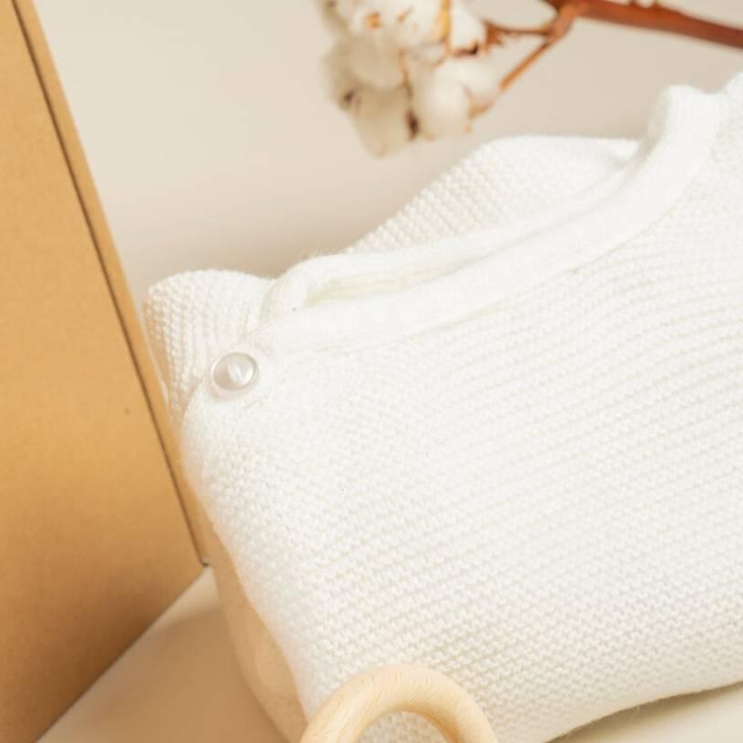 LA COMBINAISON  Couleur-Fleur de coton Taille-6-12 mois
