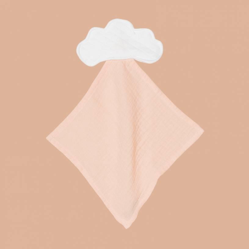 LE DOUDOU NUAGE  Taille-Taille unique Couleur-Blanc / Poudre